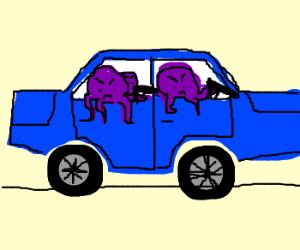 purple octopus shooting