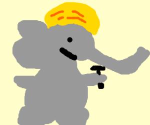 Elephant Construction Worker