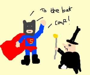 Batman disguised as Superman.