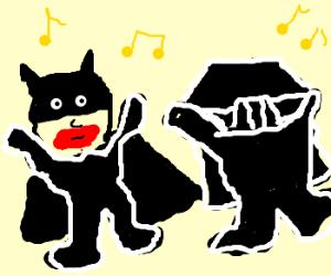 Joker batman and Vader Boogy down!