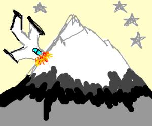 plane crashes into paramount mountain