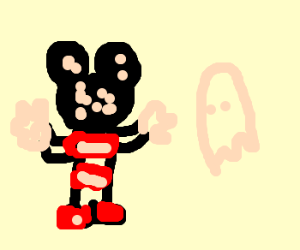 Mr Mouse worried about Ghost's measles.