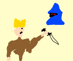 Blonde kid with daggers and Vivi