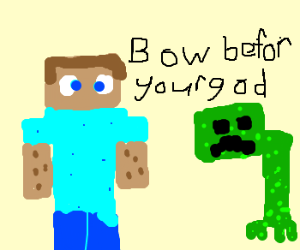Minecraft God Makes Creepers Bow Down!