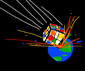 rubik cube destroy the world