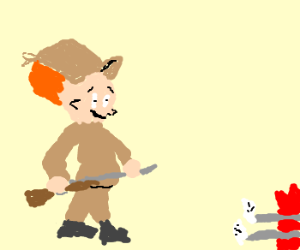 Elmer Fudd had enough of that Wabbit