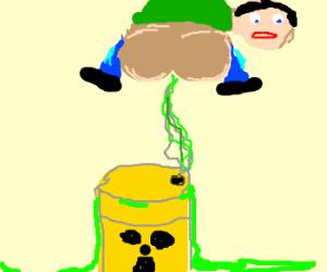 Radioactive Smoke Travels Up Man's Anus