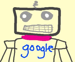 google branded robot soldier