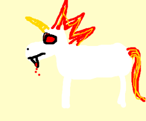 Epic vampire unicorn