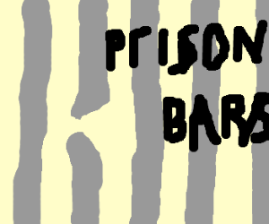 Prisoner's cell bars are broken, lol