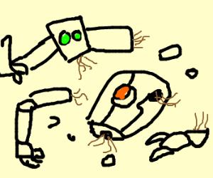 Disassembled robot