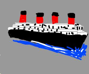 The Titanic sets sail.