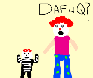 Clown finds out his kid is a mime