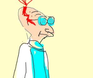 Professor Farnsworth cracks open head