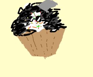 rock cupcake