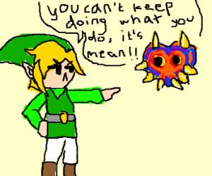Link confronts Majora's Mask