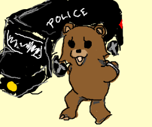pedo bear getting arrested