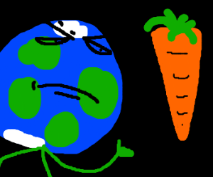 The earth approves of giant space carrot