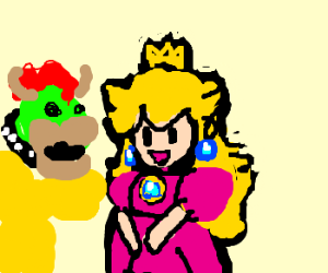 King Kopa and Peach ditch Mario.