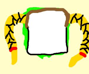 Sandwich with Blonde Braids