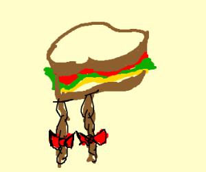 Braided hair sandwich