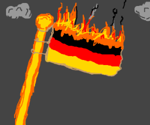 german flag burns