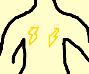 Man's nipple lightnings a present