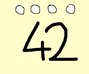 White dots over 42