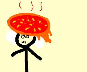 Melting pizza hat