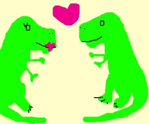 dinosaur is in love