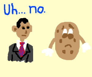 obama tells potatoe no