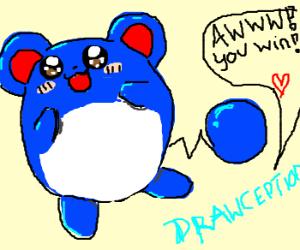 Marill pwns Drawception with cuteness.