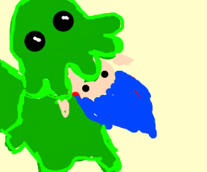 Cthulu eats a drawception troll