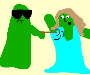 green ghost is abusing green lady