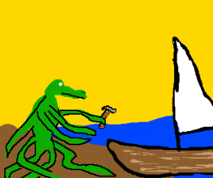 Croctopus is building a boat
