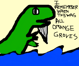 The old T-Rex and the sea