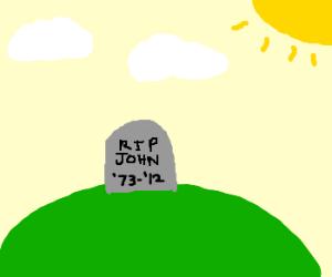 John, 39, buried on hill