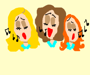Vain ladies singing