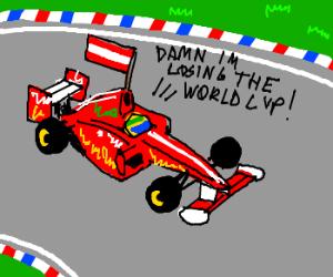 Austrian race car loses World Cup.