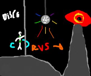 Ballerina techno viking vs eye of sauron