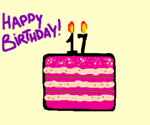 Happy 17th Birthday cake
