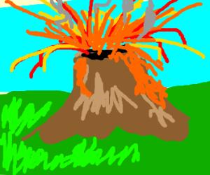 Errupting volcano