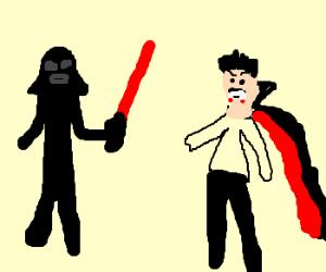 Battle between Darth Vader and Dracula