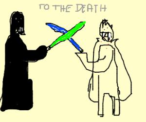 darth vader in a duel w/ vampire