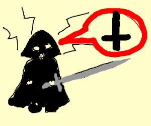 Darth Vader vs Satanist with sword
