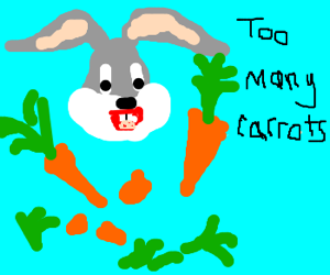Bunny Bugs finds out about carrot OD