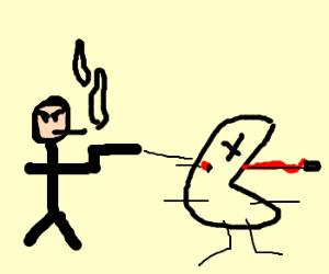 Smoking on earth kills Pacman