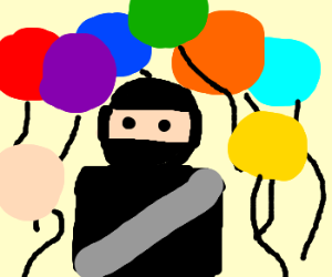 Ninja in a balloon party