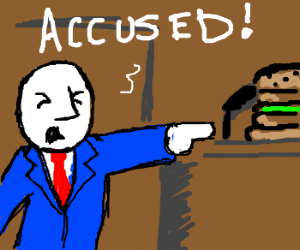 lawyer focuses on burger