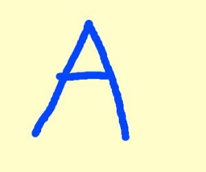 """Big blue """"A"""""""